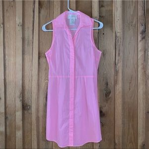 Julie Brown pink and white striped Dress. Size 4